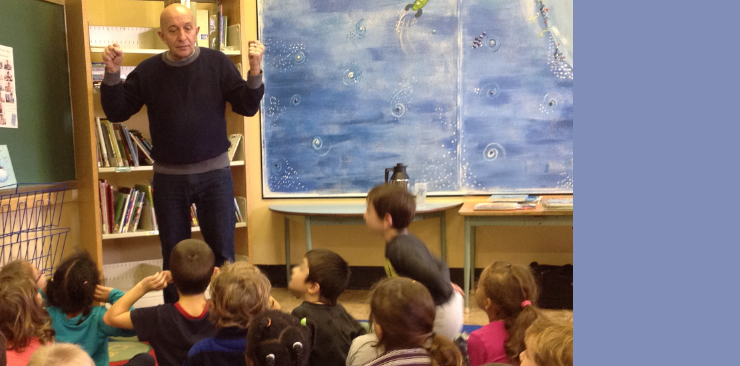 Philippe Béha célèbre l'imagination avec les élèves du pavillon St-Marc