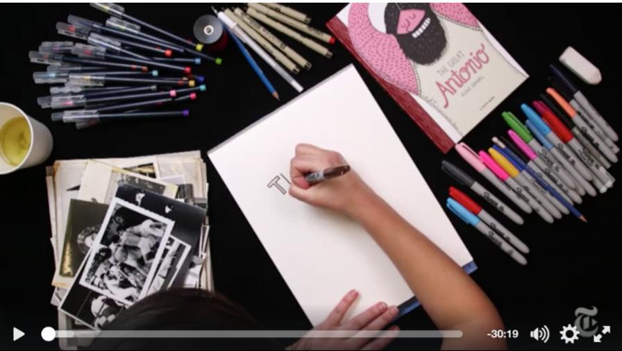 Élise Gravel dessine en direct pour le New York Times