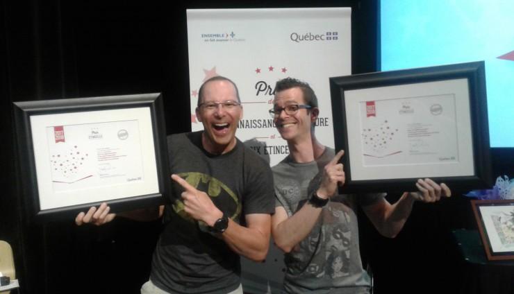 Les superhéros des livres remportent un prestigieux prix Étincelle !!!