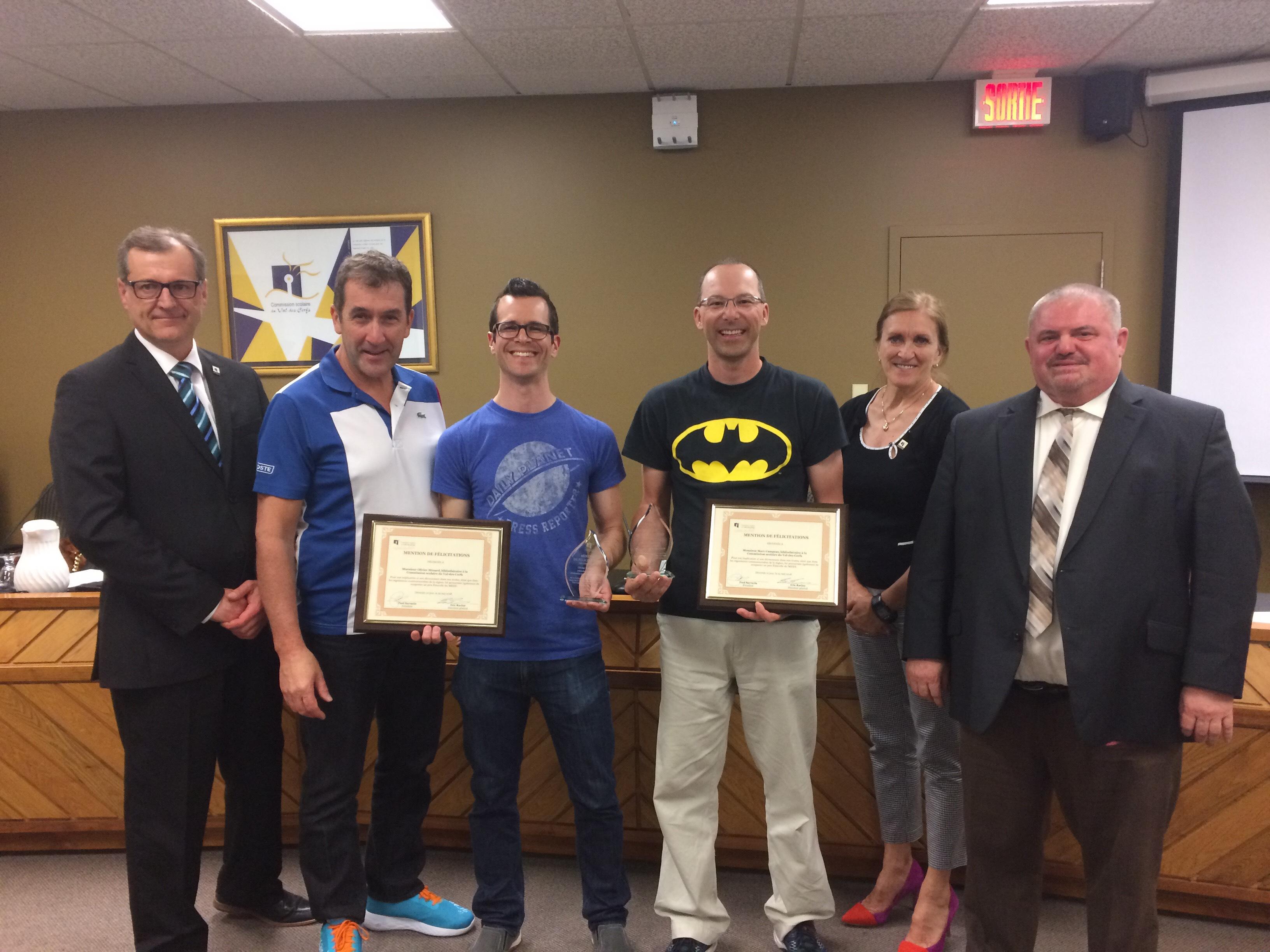 Les superhéros des livres honorés par le Conseil des commissaires de la CSVDC!